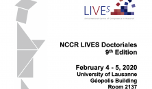 Doctoriales NCCR LIVES