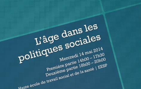 La notion d'âge dans les politiques sociales: demi-journée d'étude le 14 mai 2014 à Lausanne