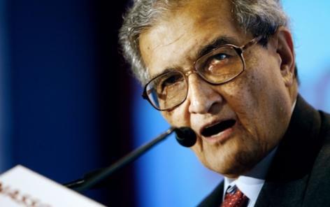Amartya Sen reçoit un doctorat honoris causa en présence d'un chef de projet LIVES