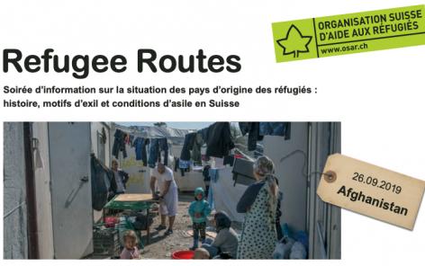 Refugee routes: soirée d'information sur l'Afghanistan