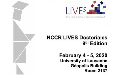 9e édition des Doctoriales du Pôle de recherche national LIVES