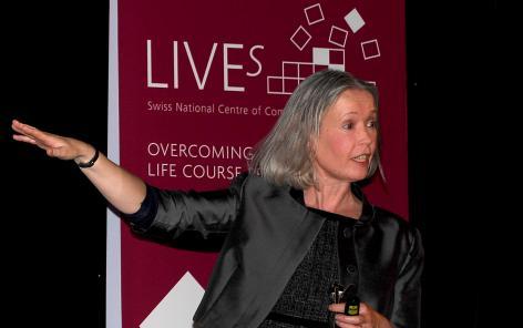 La conférence de la Prof. Alison Park de l'UCL de Londres a été suivie avec grand intérêt par les invités. @Martine Dutruit