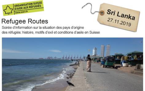 Refugee routes: soirée d'information sur le Sri Lanka