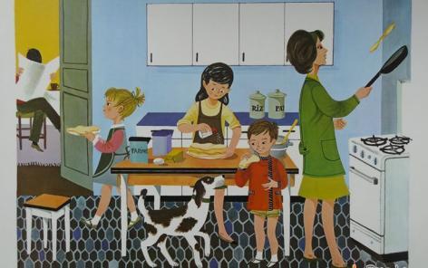 Le baby-boom, apogée de la mère au foyer, décrypté dans une thèse alliant analyses macro et micro